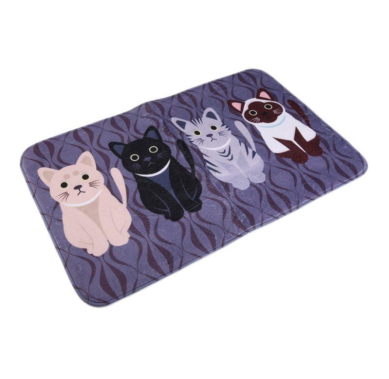 Koberec s kočkou / dekorační koberec – 50 x 80 cm (Černá 50 x 80 cm)