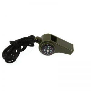 Píšťalka plastová / píšťalka s kompasem 3v1 (Černá)