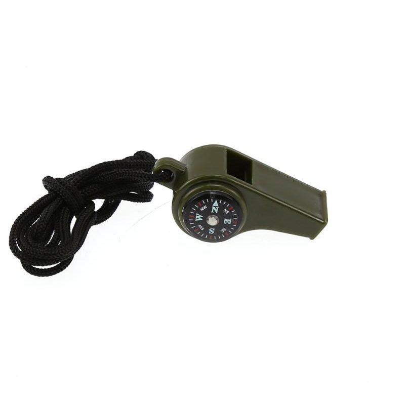 POSLEDNÍ TESTOVACÍ PRODUKT – Píšťalka plastová / píšťalka s kompasem 3v1 (Černá) (DUPLIKAT)