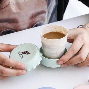 Cestovní kelímek / skládací kelímek na kávu, náhodná barva (Náhodná barva 200 ml)