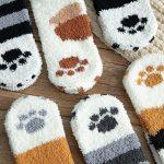 Teplé ponožky / kočičí ponožky, 1 pár – 6 barev (DUPLIKAT)