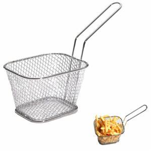 Designový košík na hranolky / miska na hranolky (Stříbrná)