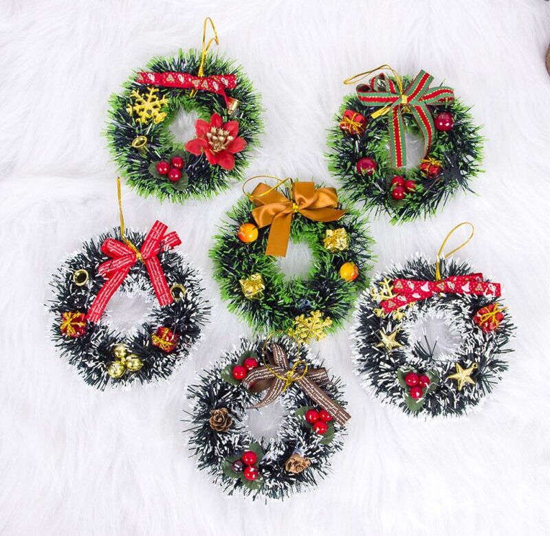 Vánoční dekorace / vánoční věnec na dveře, 6 variant