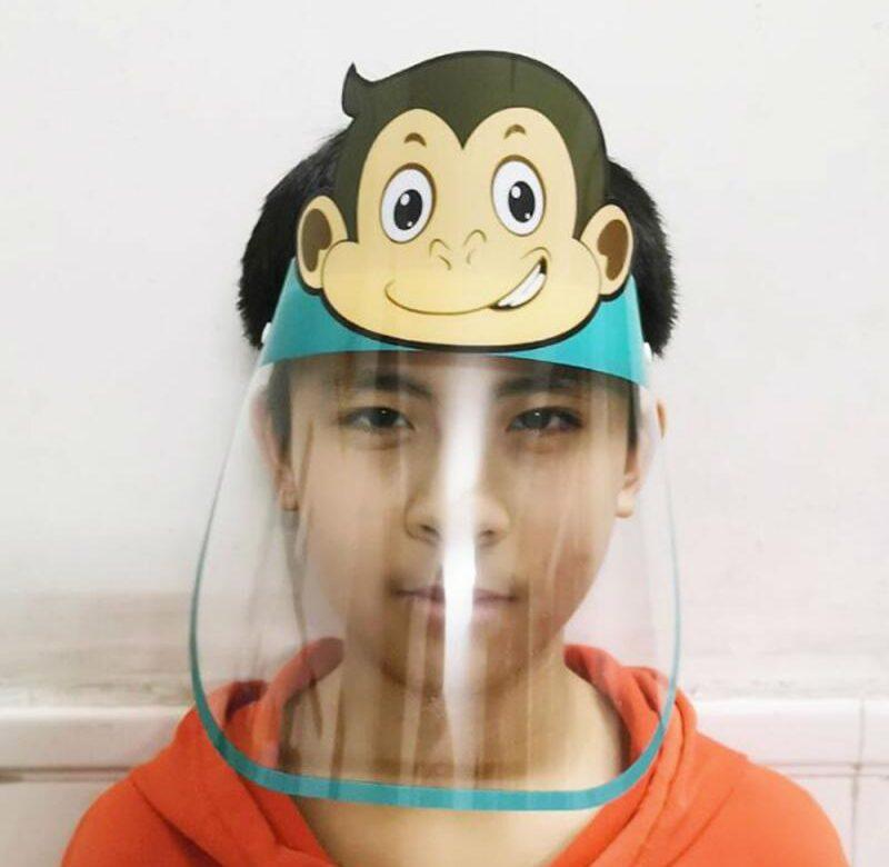 Ochranná maska na obličej / ochranný štít pro děti, 5 motivů