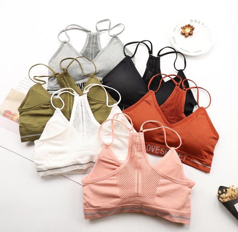 Sportovní podprsenka / podprsenka bez kostic, univerzální velikost – 6 barev