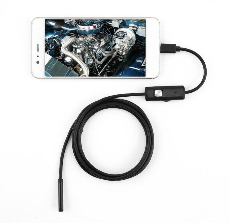 Inspekční kamera / Endoskopická kamera OTG pro mobil a PC – 5 m vodotěsná (5m)