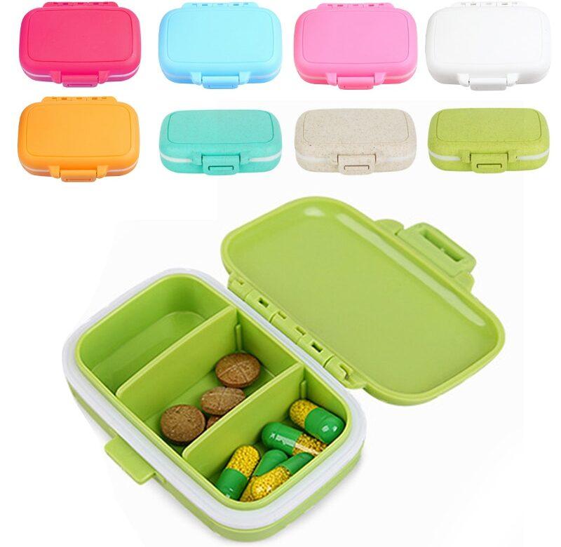 Krabička na léky / pořadač na léky, 9 barev